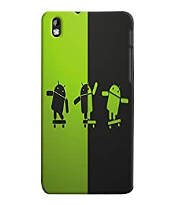 Fuson 3D Printed Android Designer Back Case Cover for HTC Desire 816 - D954