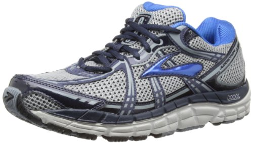 Brooks Mens Addiction 11 Running Shoes 1101461D183 Silver/Tradewinds/Mood Indigo/Olympic/Lunar Rock 12 UK, 47.5 EU, 13 US Regular