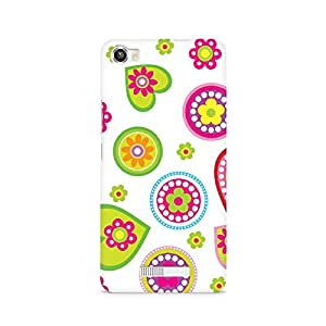Mobicture Ethnic Hearts Printed Phone Case for Lava Iris X8