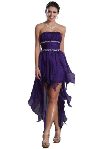 Carlyna eDressit Sin Tirante AsimšŠtrico Tres Colores Vestido de Fiesta Corta (35120306) Talla 36(Pecho: 83.82 Cintura:63.5 Cadera: 93.98cm)