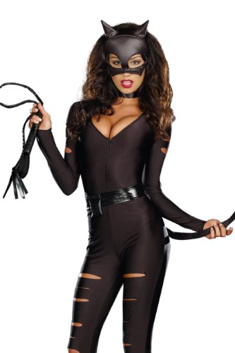Dreamgirl Night Prowler Cat Burgler Costume with Sound Effects