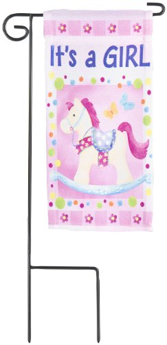 Miniature Pink Rocking Horse Flag - It