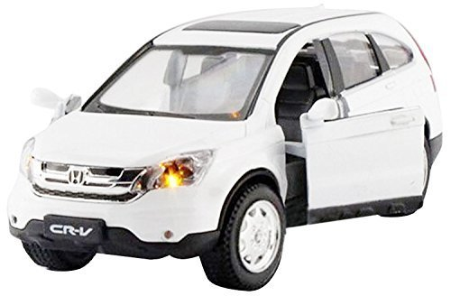 1:32 Scale White Dongfeng Honda CRV Alloy Diecast Car Model Collection Pull Back with Sound&Light Simulation Model Toy Best Gift for Kids Children (Honda Models compare prices)