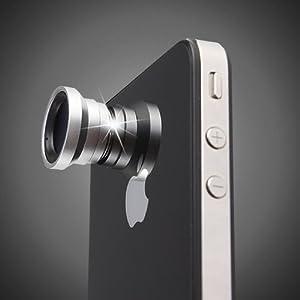 Magnetic 0.67X Wide Angle / Macro Lens Designed for Apple iPhone 4 iPhone 4S iPod Nano 5 iPad