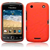 BLACKBERRY CURVE 9380 ORANGE TEXTURED PU LEATHER BACK COVER CASE / SHELL / SHIELD PART OF THE QUBITS ACCESSORIES RANGEby Qubits