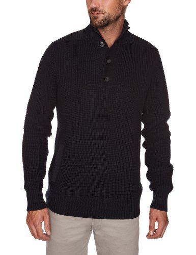 Henri Lloyd Aldenham 1/2 Button Knit Men's Jumper Navy Medium