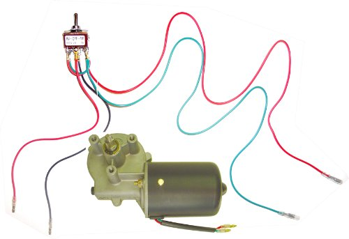 Wondermotor 12V Dc Reversible Electric Gear Motor 50 Rpm + Reversible Dpdt Switch
