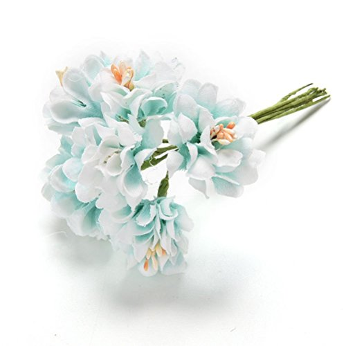 UhoMEY(TM) 6 Pcs Handmade Artificial Flower Bouquet Wedding Decoration DIY Wreath