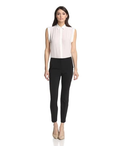 Les Copains Women's Flat Front Tapered Ankle Pant