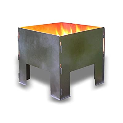 Flat Packed Portable Fire Pit by Boutique Camping