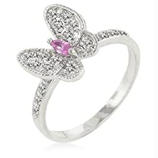 buy J Goodin Fashion Jewelry Cubic Zirconia Butterfly Cocktail Ring Size 7