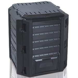 Komposter, Thermokomposter - Fassungsvermögen 380 Liter (Schwarz)