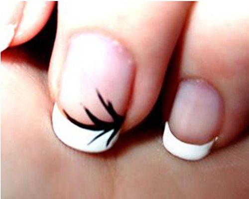 White Manicured Nails Nail Tips White Thick