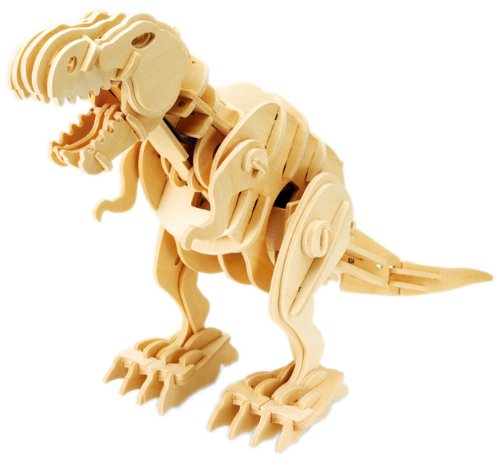 男の子、目がキラキラ&#10025;&#10025;<br/>(木製3D恐竜パズル)
