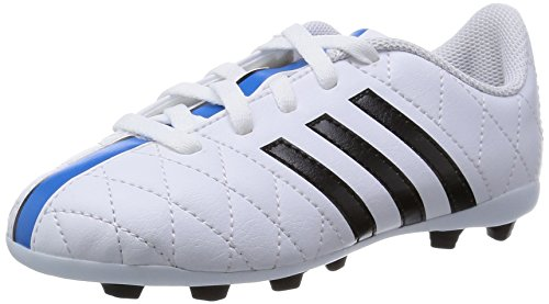 Adidas Performance - 11 Questra Trx Fxg Junior, Scarpa Da Calcetto per bambini e ragazzi, bianco (ftwr white/core black/solar blue2 s14), 38 2/3