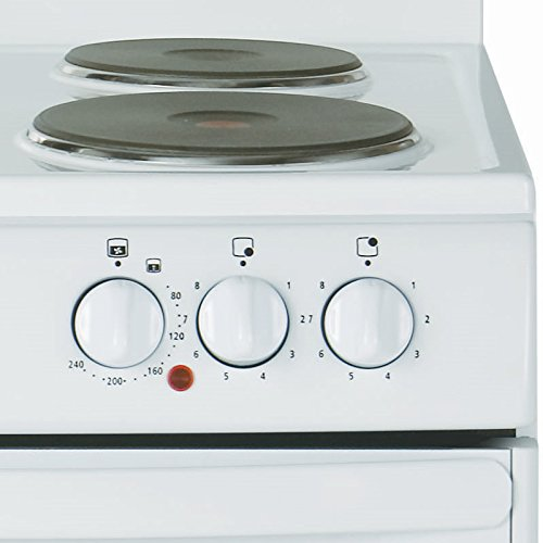 New World 50HLGEWH 500mm Single Electric Cooker High Level Grill White