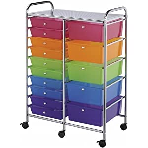 Storage Cart 15 Dwr Multicolor