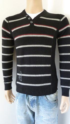 Mens Smart Jumper 2 in 1 Shirt in Blue or Striped, Small or Large (Small 36/38