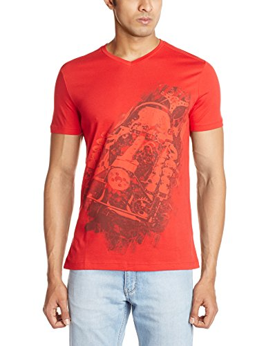 Puma Puma Men's Crew Neck Cotton T-Shirt (Red)