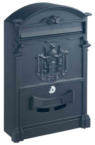 Rottner Ashford Traditional Style Post Box with Regal Crest - Anthracite
