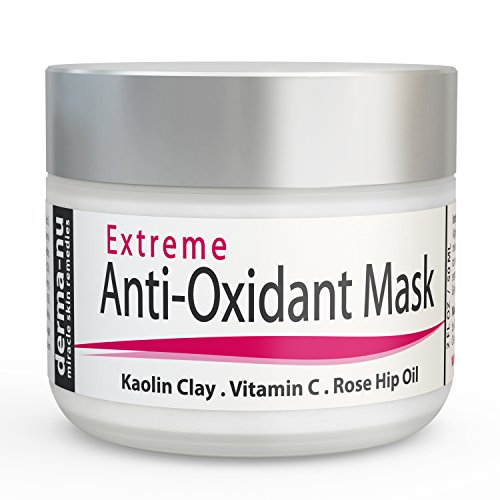 Anti Aging Facial Mask - Extreme Anti Oxidant Facial - This Mud Mask Contains Kaolin Clay, Glycolic Acid, Vitamin C, Peptides, CoQ10