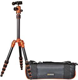 Benro MeFoto A1350Q1C Tripod Kit (Orange) Converts to Monopod