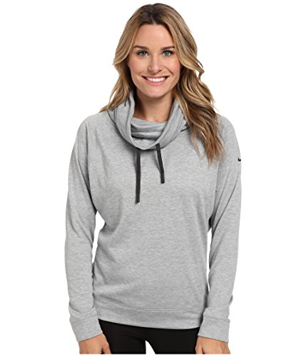 Nike Womens Dri Fit Obsessed Infinity Cover-up Long Sleeve Top Grey Medium