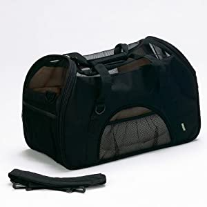 Bergan Comfort Carrier Soft-Sided Pet Carrier, Large, Black