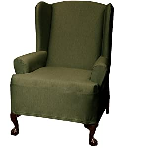 Terrific Where To Buy Maytex Stretch Twill Wing Chair Cover Olive Pabps2019 Chair Design Images Pabps2019Com