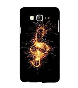 PrintVisa Music Note Fireworks Design 3D Hard Polycarbonate Designer Back Case Cover for Samsung Galaxy On 7