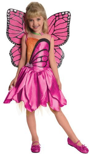 [Barbie Fairytopia Mariposa and Her Butterfly Fairy Friends Deluxe Mariposa Costume, Small by] (Fairytopia Barbie Costume)