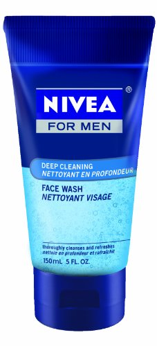 Nivea for Men Face Wash Cleans and Moisturizing with Menthol and Vitamin E, 5-Ounce Tubes (Pack of 4)