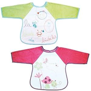 Babycalin BBC203201 - Babero con mangas bordado (cierre con velcro, modelo al azar) de Babycalin