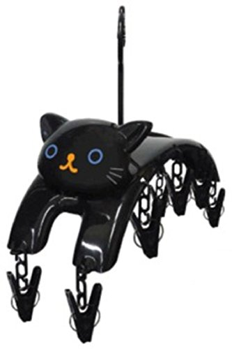 Cute Cat Clothespin Hanger Interior (Black)