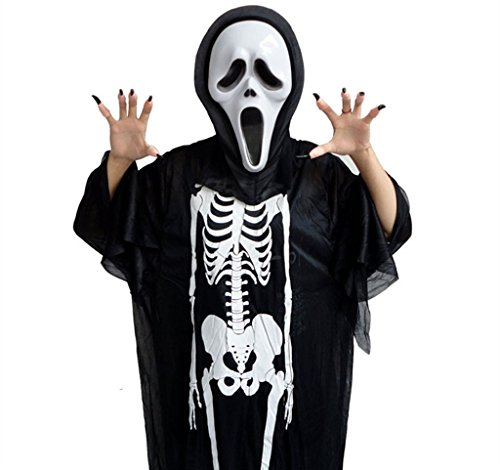 Halloween Party Scary Skull Crazy Scared Ghost Mask Skeleton Mask Scream Costume
