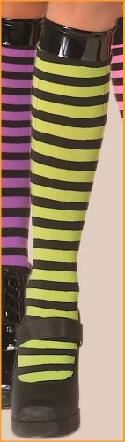 Striped Knee Highs Halloween Costume Accessories Green