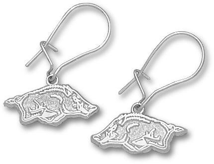 "Arkansas Razorbacks 1/4"" Athletic ""Razorback"" Post Earrings - Sterling Silver Jewelry at Amazon.com"