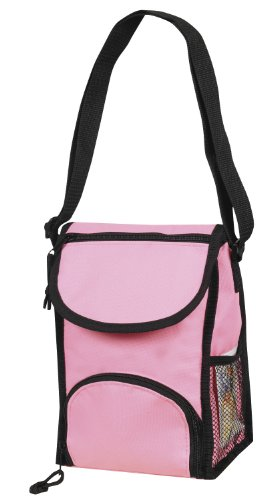 Deluxe Insulated Lunch Pack Cooler Bag, Pink by BAGS FOR LESSTM - 1