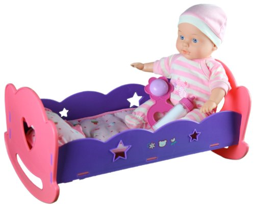 Mommy & Me 13'' Lullaby Baby Doll With Rocking & Singing Cradle 11213 front-763934