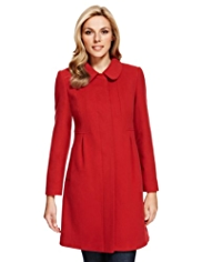 M&S Collection Wool Blend Dolly Coat with Cashmere
