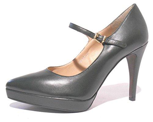 Bruno Premi scarpe donna decoltè pelle verde scuro cinturino tacco alto N° 37 art. F5100P