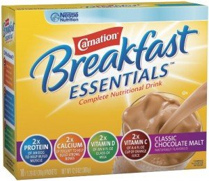 Carnation Breakfast Essentials Complete Nutritional Drink, Packets, Classic Chocolate Malt, 10 ea