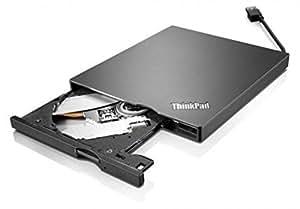 Lenovo 0A33988 Slim USB Portable DVD Burner - Disk drive - DVD±RW (±R DL) / DVD-RAM - Hi-Speed USB - external - black - for ThinkPad Edge E13X, ThinkPad T430, T530, ThinkPad Tablet 2, ThinkPad X1 Carbon, X13X, X230