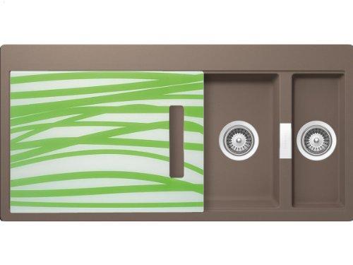 Schock Horizont D-150 A G Earth Granit-Spüle Beige Küchenspüle Einbau Auflage