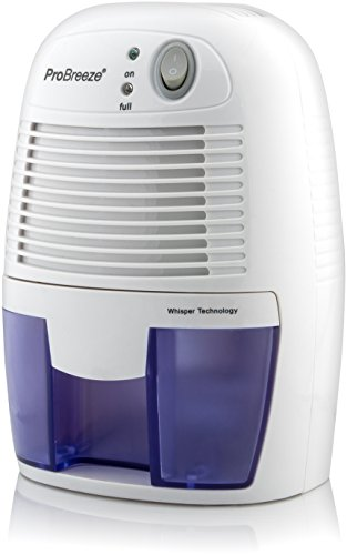 Pro Breeze Electric Dehumidifier, 1100 Cubic Feet, Compact and Portable for Damp Air, Mold, Moisture in Home, Kitchen, Bedroom, Basement, Caravan, Office, Garage (Dehumidifiers compare prices)