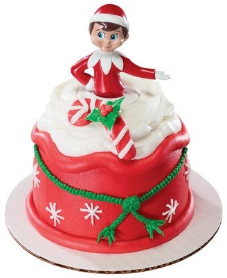 Christmas elf on the shelf petite cake topper check price