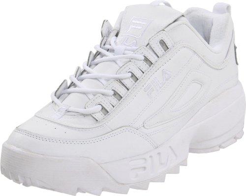 Fila Men's Disruptor II Sneaker,White/White/White,13 M US (Fila Shoes compare prices)