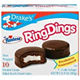 Drake's by Hostess 10 ct Ring Dings Frosted Creme Filled Devil's Cakes 13.5 oz