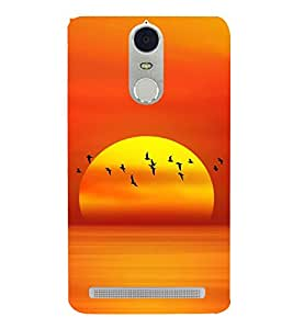 SERIES OF FLYING BIRDS AT SUNSET DEPICTING BEAUTY OF NATURE 3D Hard Polycarbonate Designer Back Case Cover for Lenovo K5 Note