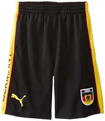 PUMA Boys 8-20 Germany Short, Black, Small
